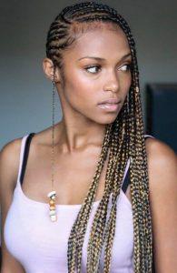 tribal braids with cornrows