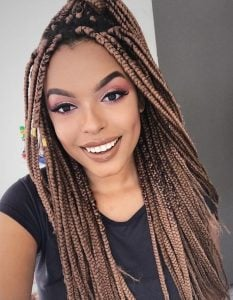 tribal braids with highlights