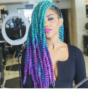 jumbo tribal braids with color