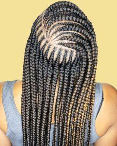 patterned tribal braids
