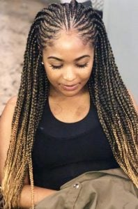 tribal braids with color