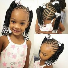 little girl braids with beads,